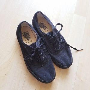 Vans All Black Lace Shoes